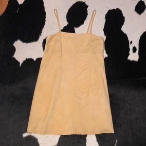 Vintage 90's genuine suede leather mini dress, 8